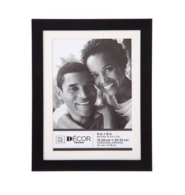 Darice Simple Black Picture Frame 6x8 Matted to 5x7