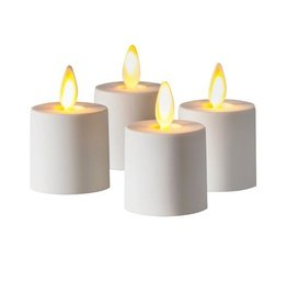 Luminara Flameless Candle Tea LIghts Set of 4 Battery Operated NR