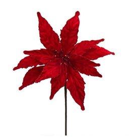 Kurt Adler Red Poinsettia Pick 12 inch B4076 Christmas Floral