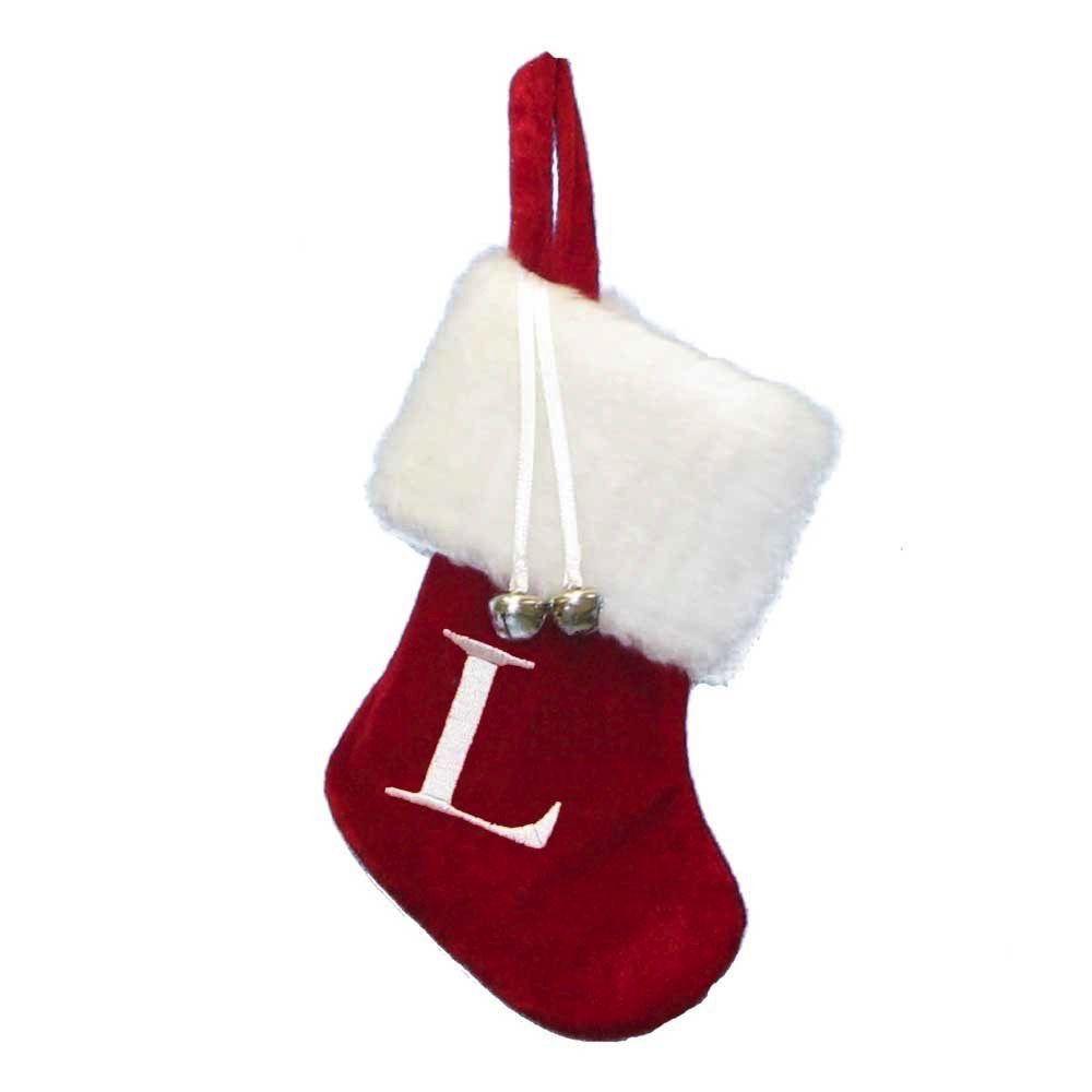 Kurt Adler Mini Red Monogrammed Christmas Stocking w Initial Letter ...