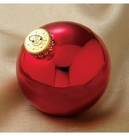 Kurt Adler Shiny Red Glass Ball Christmas Ornaments 80MM Set of 4