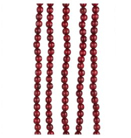 Kurt Adler Wooden Bead Garland 9FT Bugundy Red