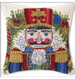 Peking Handicraft Christmas Needlepoint Pillow 18sq Nutcrackers Throne