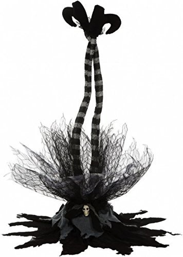 Mark Roberts Halloween Animated Witch Legs Decoration 35 inch