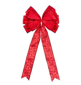 Darice Christmas Tree Topper Red Bow 11x22 inch