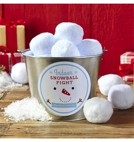 Twos Company Indoor Snowball Fight Set of 15 w Bucket-Safe-Fun-No Mess