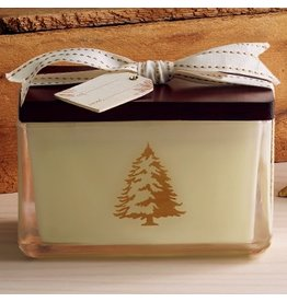 Thymes Frasier Fir Poured Candle in Glass 2 Wick 14.oz Design Holder