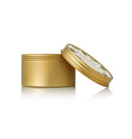 Thymes Frasier Fir Poured Candle 2.5oz Tin in Gold