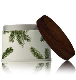 Thymes Frasier Fir Poured Candle 6.5oz Tin w Pine Needle Design