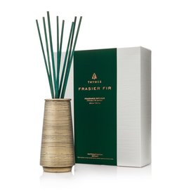 Thymes Frasier Fir Reed Joyeux Diffuser Metal 7.75oz Gold