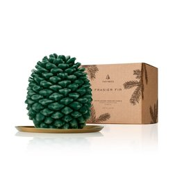 Thymes Frasier Fir Pinecone Candle Petite 4x5x3.5