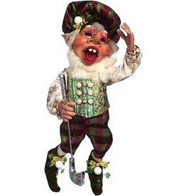 Mark Roberts Fairies Elves 51-71814 Golfer Elf Med Signed by M Roberts