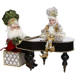 Mark Roberts Fairies Animated Musical Grand Piano Santa w Elf 51-77810