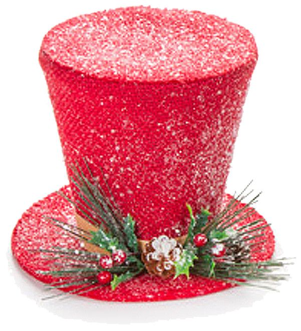 darice christmas snowman top hat table decoration 7 inch red - Top Hat Christmas Decorations