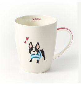 Twos Company Kennel Club Puppy Love Coffee Mug Boston Terrier