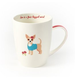 Twos Company Kennel Club Puppy Love Coffee Mug Chihuahua Love is