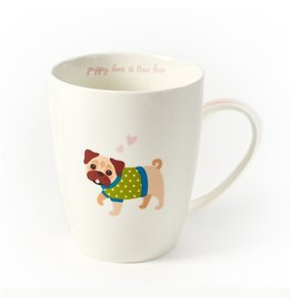 Twos Company Kennel Club Puppy Love Coffee Mug Pug Puppy Love is True