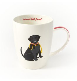 Twos Company Kennel Club Puppy Love Coffee Mug Black Lab Wo-Mans Best