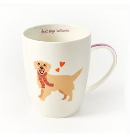 Twos Company Kennel Club Puppy Love Coffee Mug Golden Retriever
