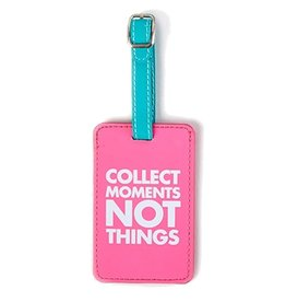 Twos Company Chit Chat Luggage Tag Collect Moments Not Things