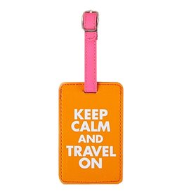 Twos Company Chit Chat Luggage Tag Keep Calm and Travel On