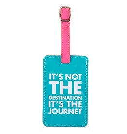 Twos Company Luggage Tag Its Not the Destination Its The Journey