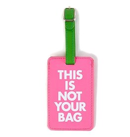 Twos Company Chit Chat Luggage Tag This is Not Your Bag