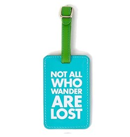 Twos Company Chit Chat Luggage Tag Not All Who Wander Are Lost