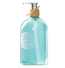 Twos Company Liquid Hand Soap Freshwater Scent w Bling Sand Dollar