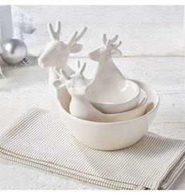 Twos Company Oh Deer Nested Deer Bowls Set of 3 Reindeer Serving Bowls