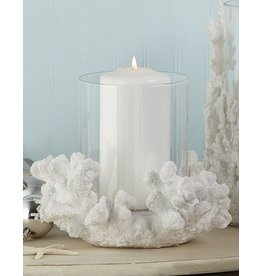 Twos Company Coral Reef Pillar Candle Holder 7Hx9Dia