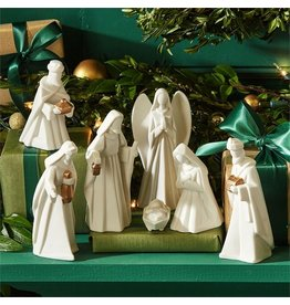 Twos Company Porcelain 7pc Nativity Set in Gift Box