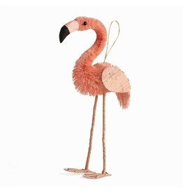 Twos Company Flamingo Bottle Brush Ornament  8 Inch