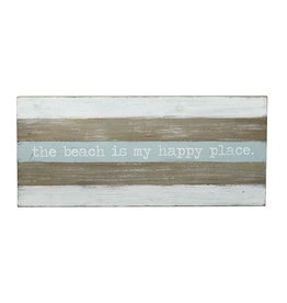 Mud Pie Distressed Wood Sign w The Beach is My Happy Place