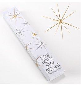 Twos Company Hanging Starburst 13 inch Diameter Gold SM