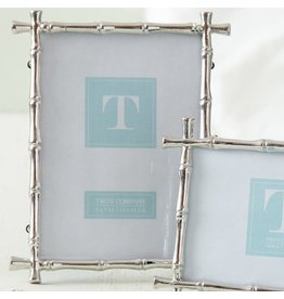 Twos Company Silver Bamboo 5x7 Photo Frame 9851-L