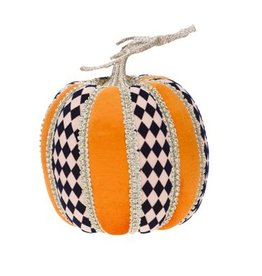 Mark Roberts Fall Decor Fashion Pumpkin Harlequin Tall 8Hx6D Inches