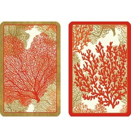 Caspari Playing Cards Bridge Cards 2 Decks Jumbo Text PC113J Sea Fans