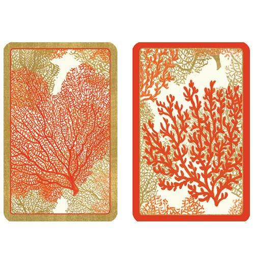 Caspari Playing Cards Bridge Cards 2 Decks PC113 Sea Fans