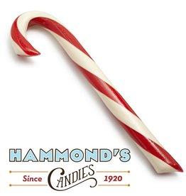 Hammonds Candies Peppermint Candy Cane Lg Big 2oz 8L x.75D