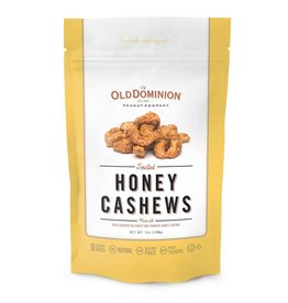 Old Dominion Peanut Company Toasted Honey Cashews Nut Candy 7oz