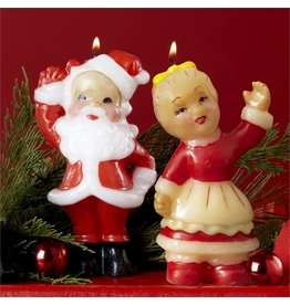 Twos Company Mr and Mrs Santa Claus Candles Set