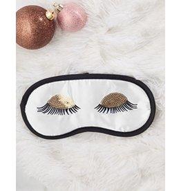 Twos Company Sleeping Beauty Satin Eye Sleep Mask -White