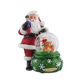 Christopher Radko Snow Globe Lots to Deliver Snowglobe 4x3x2.5