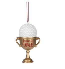 Midwest-CBK Golfers Ornament Trophy w Golf Ball Hole In One