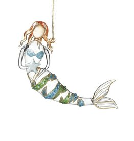 Midwest-CBK Mermaid Ornament Glass Mermaid Holding Star