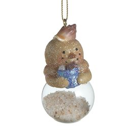 Midwest-CBK Sand Snowman Ornament Filled w Sand Holding Beach Pale