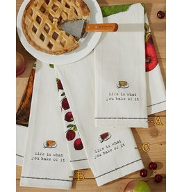 Twos Company Farm to Table Dish Towel with Pie Server -C Cranberry Tart