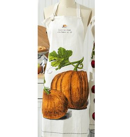 Twos Company Farm to Table Apron with Pie Tin -B Pumpkin Pie