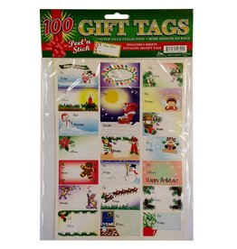 DM Merchandising Christmas Gift Tags 100 pack YT-TF100 Peel n Stick Gift Tags